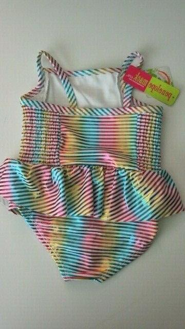 5 Pc Swimsuit Metallic Rainbow