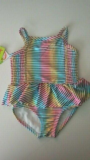 little girls 5 1 pc swimsuit metallic