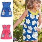 Little Girls Cotton Dress Sleeveless Casual Summer Sundress