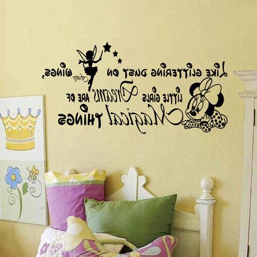 little girls dreams letter minnie mouse wall