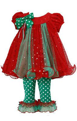 little girls holiday christmas santa red outfit