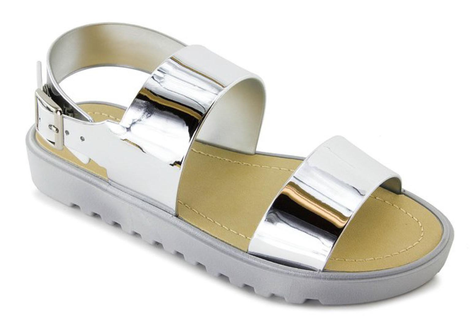 Little Junior Youth Color Slingback Flat Toe Shoes