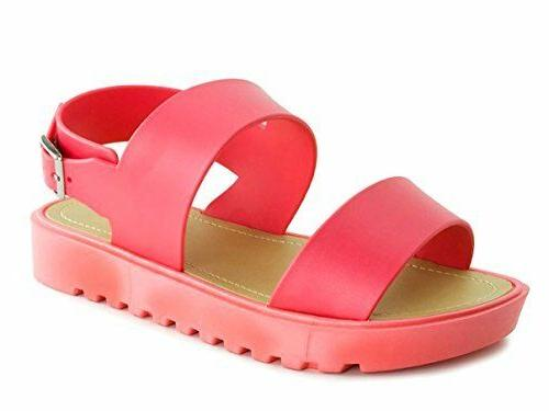 Little Youth Color Slingback Flat Open Toe Gladiator Sandals