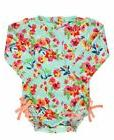RuffleButts Little Girls Long Sleeve One Piece Swimsuit - Pa