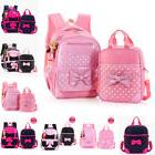 Little Girls School Backpack Lunch box Set Large Polka Dot B
