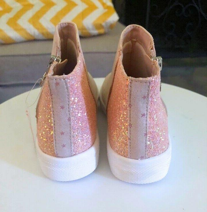 Little Size Pink Glitter Star Dotted Sneaker