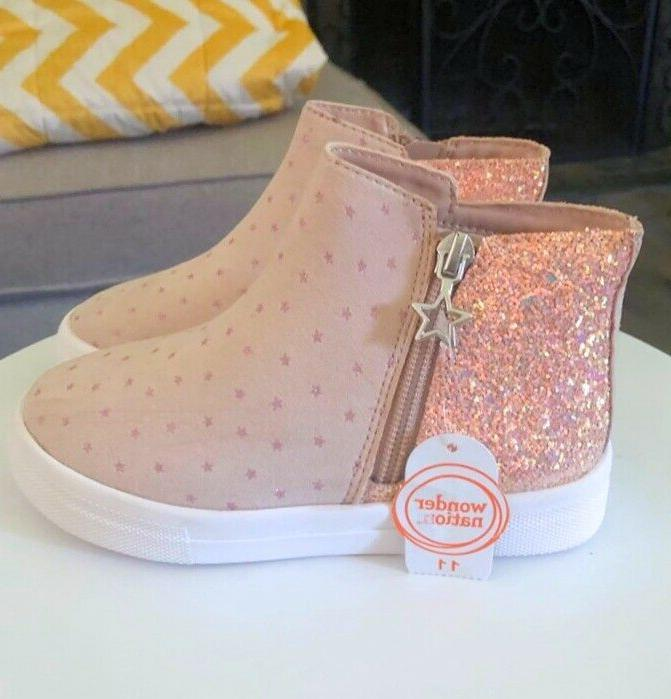 Little Girls Pink Dotted Bootie