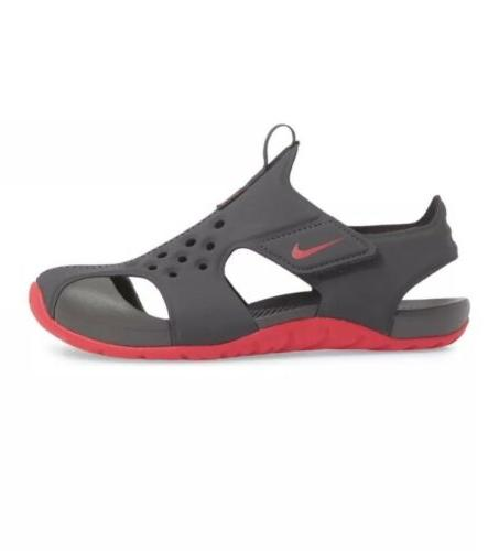 NIKE Girls Protect 2 Sandals Anthracite Gray 943828-001 SZ 2Y