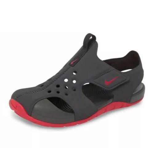 little girls sunray protect 2 sandals anthracite