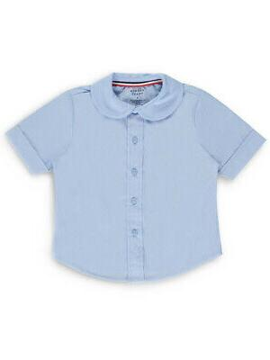 French Toast Little Girls' Toddler S/S Peter Pan Fitted Shir