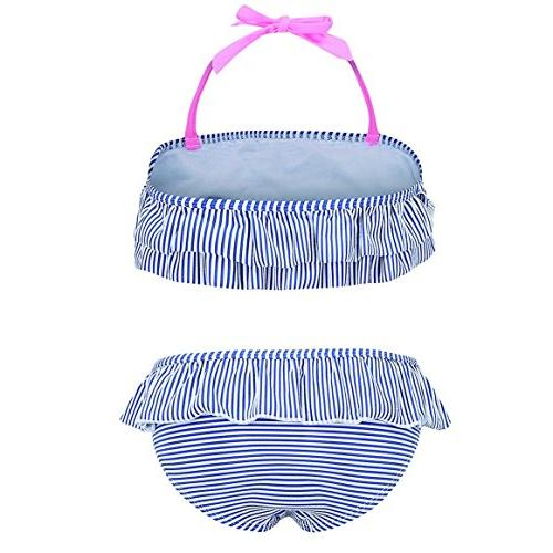 HowJoJo Little Two Piece Bikini Ruffle Suit 4T