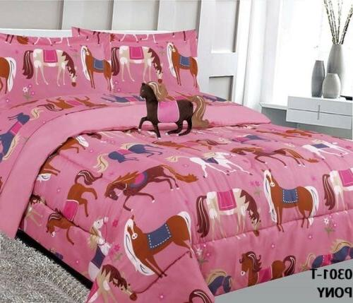 little horses kids girls comforter set 4