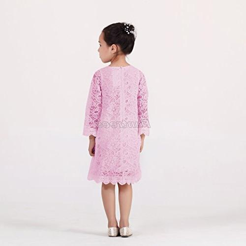 Funtrees Little Overlay Dress 2-3T Pink