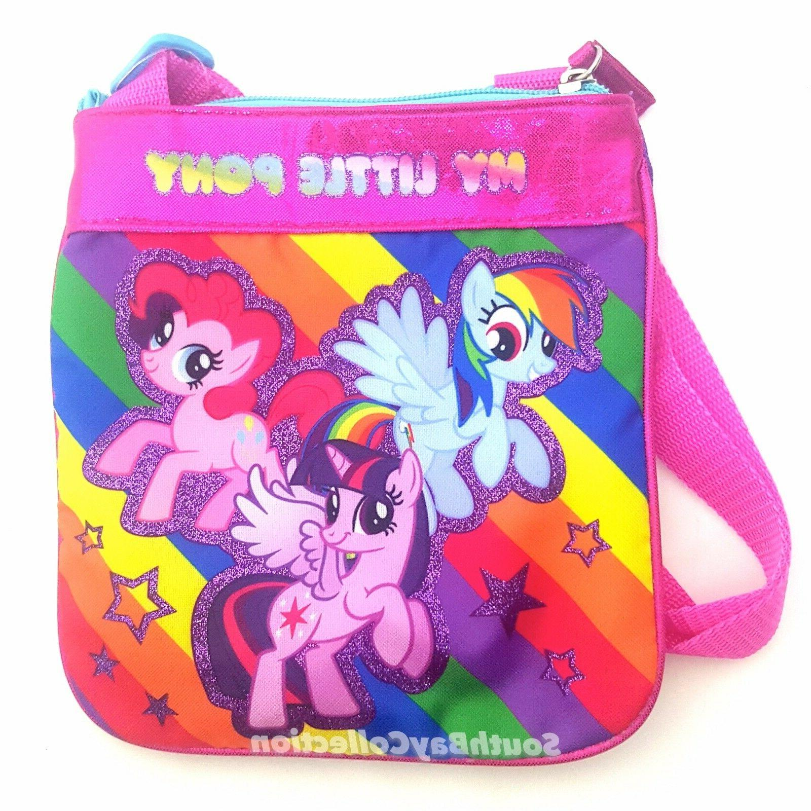 little pony rainbow glitter shoulder
