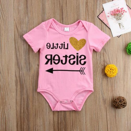 Little Romper Sister Tee Matching Outfits