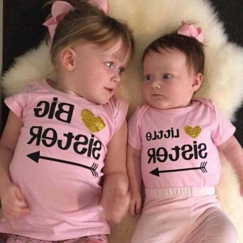 2019 Sister Girls Romper T-shirt Outfits US