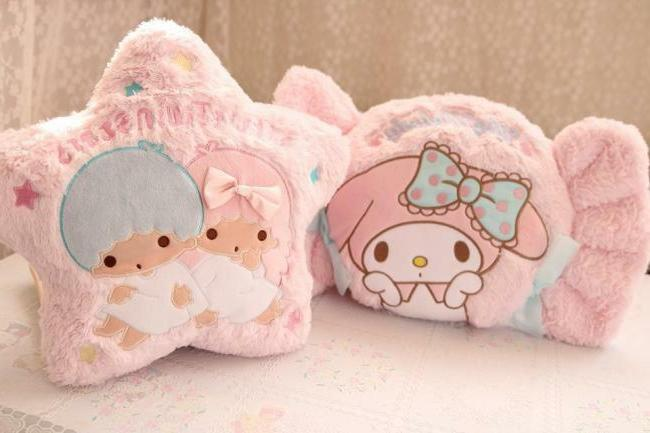 little twin stars candy melody plush toy stuffed cushion nap