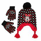 Disney Minnie Mouse Hat and Gloves Cold Weather Set, Little