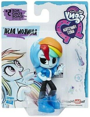 "My Little Pony Equestria Girls 3"" Minis Set of 4 Rainbow Twi"