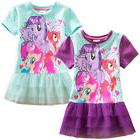 My Little Pony Girls' Dresses New Kids' Clothing Summer Shor