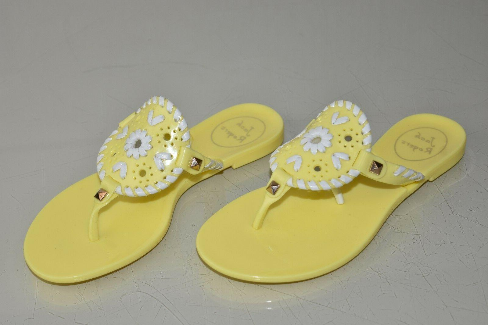 New Jack Rogers Little Miss Georgica Jelly Sandals Yellow Fl