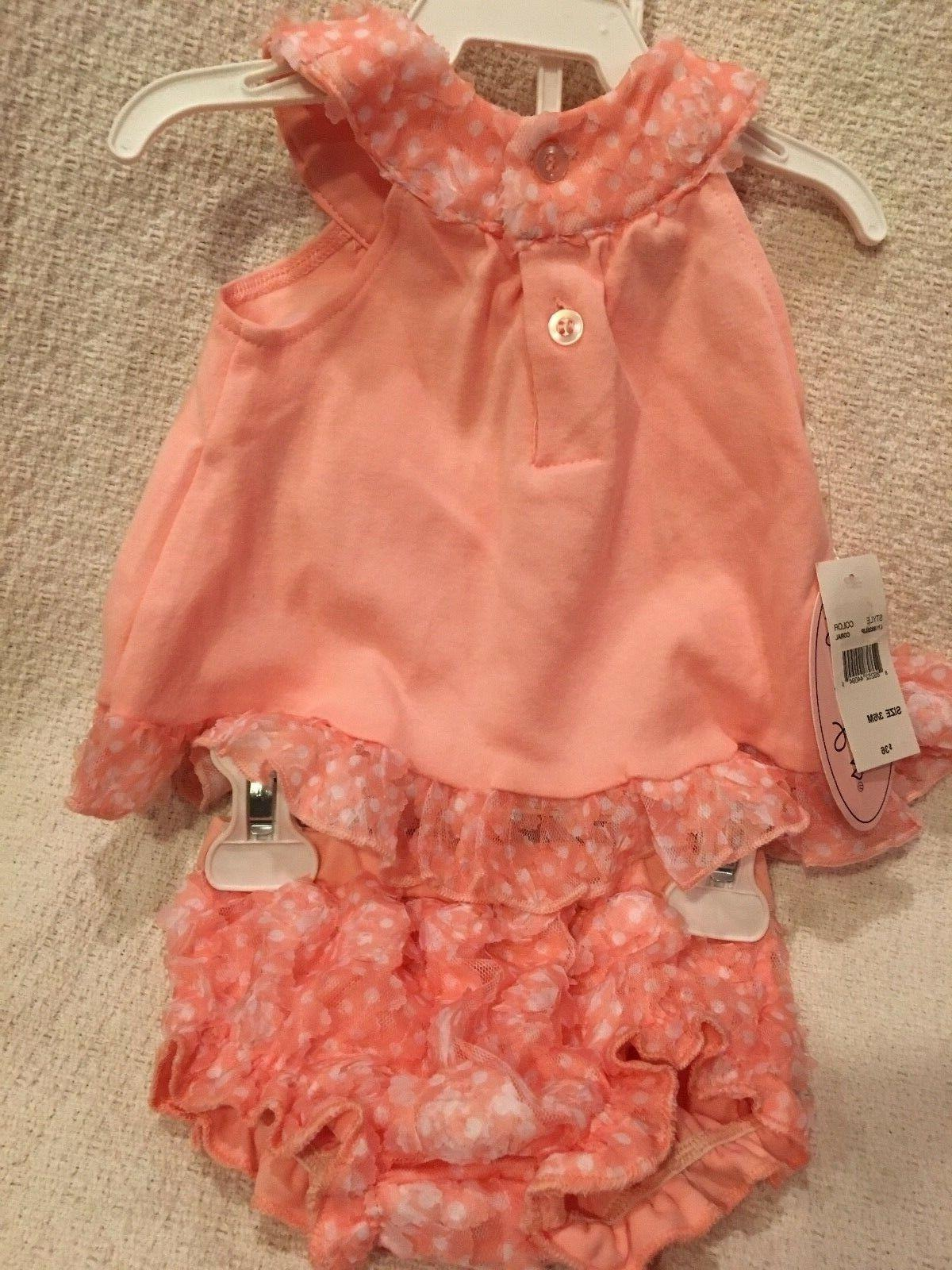 NWT Little Girls' 2 Pc Outfit Top Coral Flowers