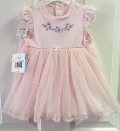 NWT Me Baby Girls Pink Dress Cover  12