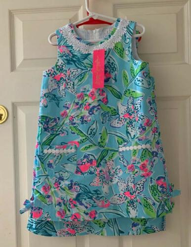 nwt little girls classic shift bali blue