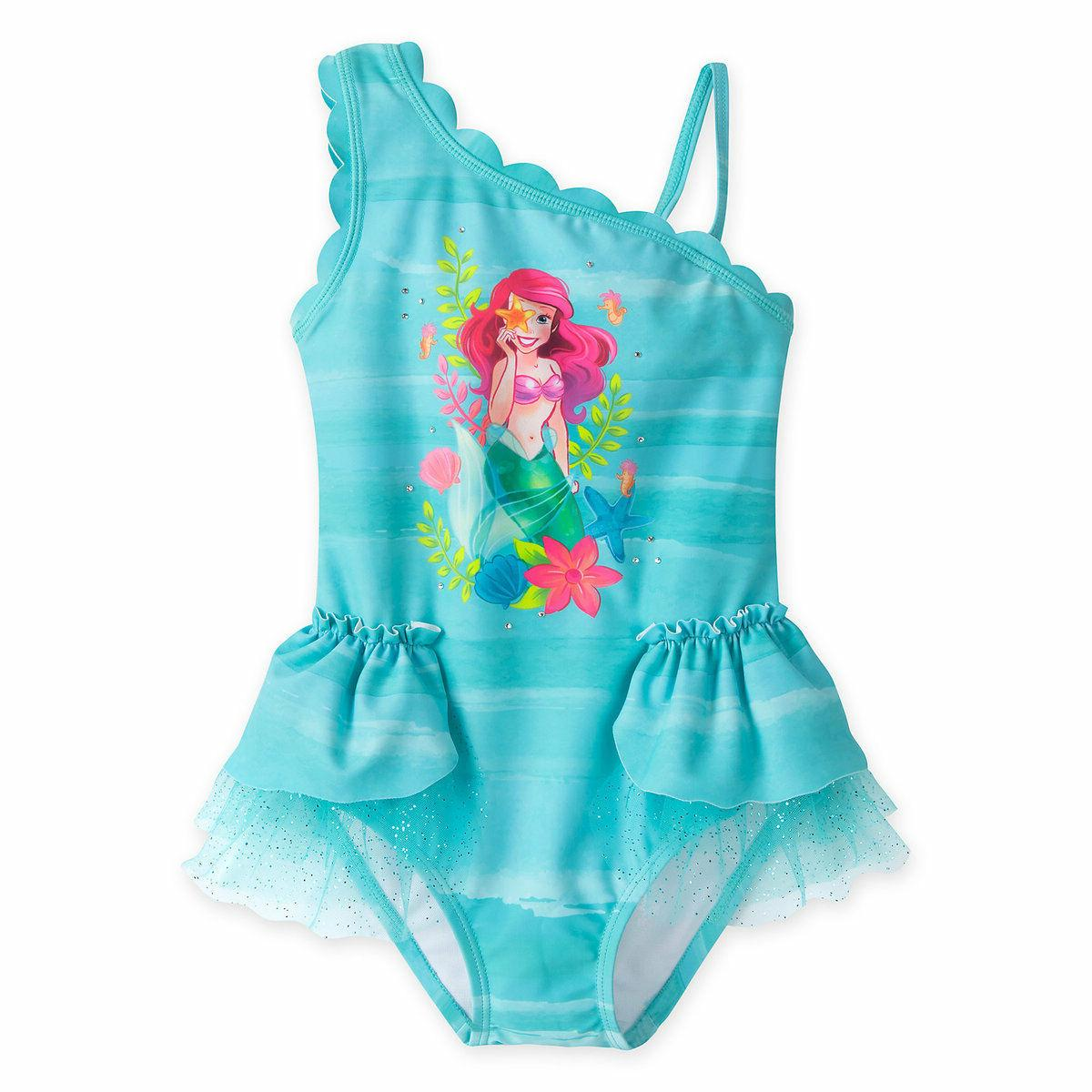 nwt deluxe princess ariel swimsuit little mermaid