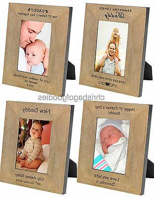personalised picture photo frame for my daddy