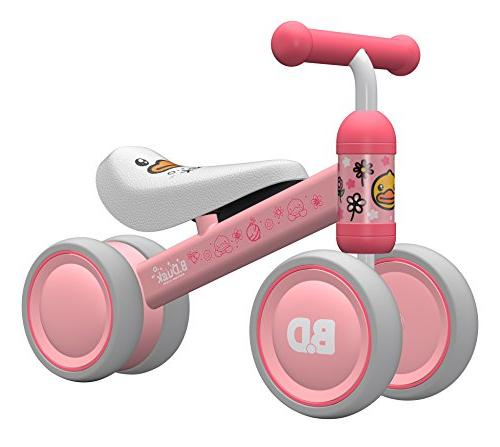 Ancaixin Baby Bicycle Walker Month - 24 Month Toys for 1 Old No Pedal 4 Birthday New Gift Pink Duck