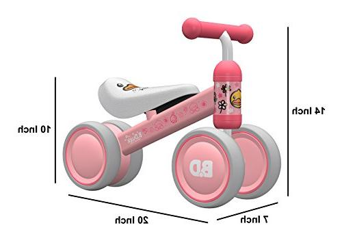 Ancaixin Baby Bicycle Month - Toys for 1 Old 4 Wheels First Birthday New Year Pink Duck