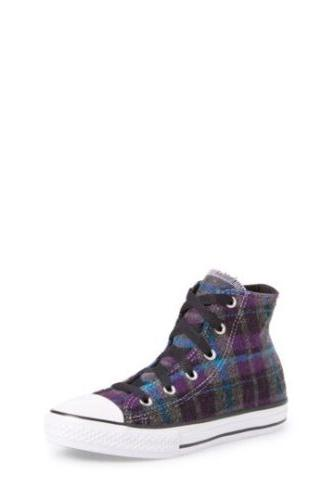 Converse Plaid High Top Sneaker Little Girls Size 12. Nib