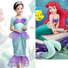 Princess Ariel Little Mermaid Costume Outfit Fancy Dress Up