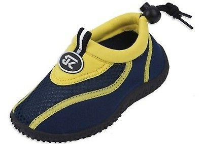 Starbay Toddler Kids Water Shoes Sizes 5-10 Navy/Yellow/Blue