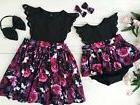 Toddelr Kids Baby Girls Sister Matching Floral Jumpsuit Romp
