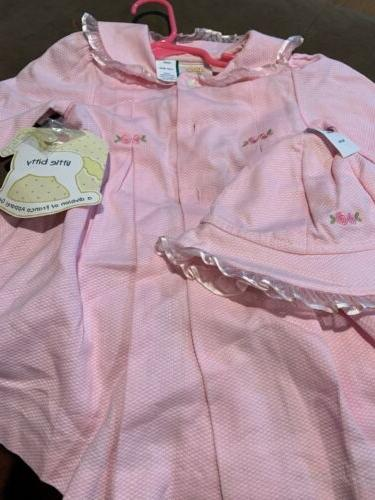 Toddler Pink Matching Coat Trim 18 Mo.