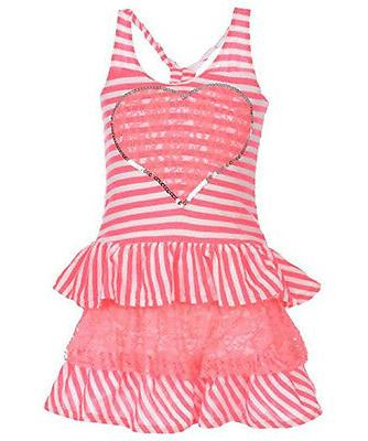 toddler little girls pink striped dress size