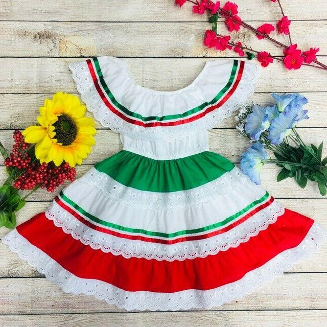 Unik Traditional Mexican for Little Girls 2-14 Cinco Mayo Fiesta