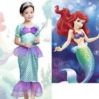 US Kids Girls Ariel Little Mermaid Costume Outfit Fancy Dres