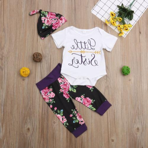 USA Sister Match Little Sister Girl Romper Pants Outfit Clothes
