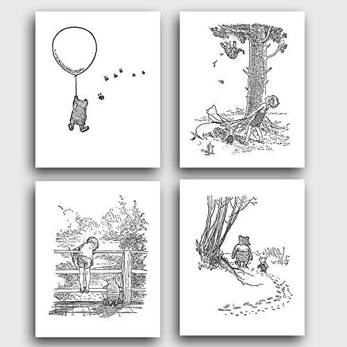 winnie pooh black white nurseryart winnies adventures unfram