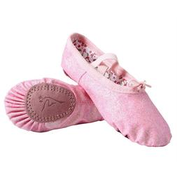 Nexete Leather Ballet Dance Shoes Slippers Split-Sole For To