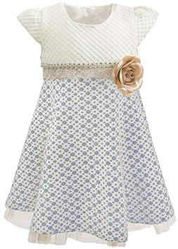 Lilax Little Girls' Sparkle Polka Dot Twirl Dress