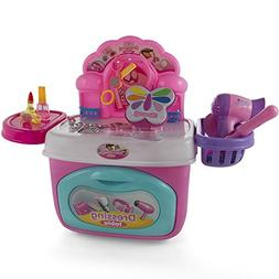 Little Girls Make Up Case And Cosmetic Set – Pretend Play