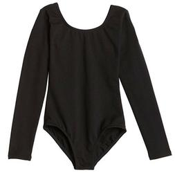 Capezio Little Girls' Classic Long Sleeve Leotard, Black, Sm