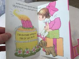 Little Girl Birthday Vintage Card 5th Forget Me Not American