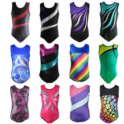 Little Girl Gymnastics Ballet Leotard Rainbow Rinestone Athl