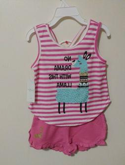 Jessica Simpson Little Girls' 2 Pc No Drama With This Llama