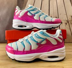 LITTLE GIRLS Nike Air Max Plus  Shoes White/Pink 848216-007
